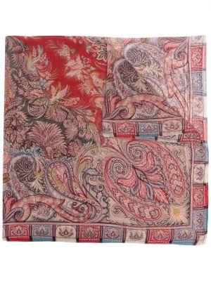 Розовый тонкий шелковый платок Etro