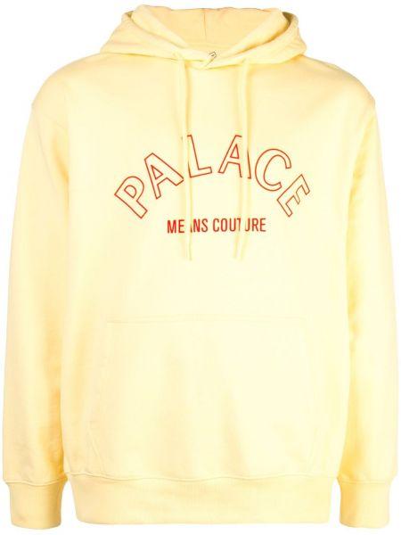 Żółta bluza z kapturem Palace
