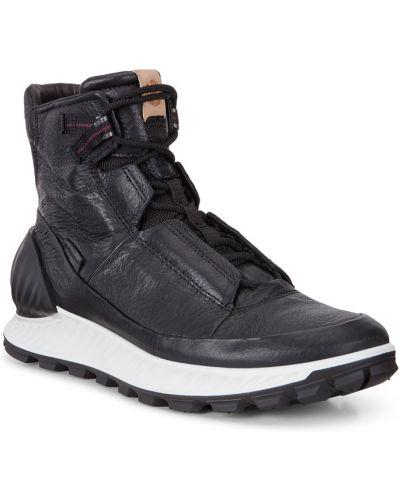Высокие кроссовки черные городские Ecco