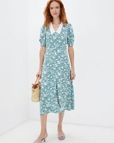 Зеленое платье осеннее Elena Andriadi