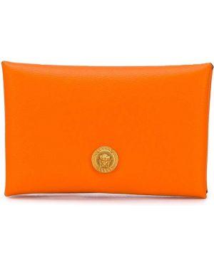 Оранжевый кошелек Versace