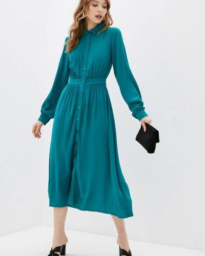 Бирюзовое платье-рубашка Springfield