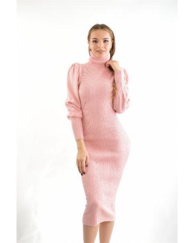 Платье розовое зимнее Lost Ink.