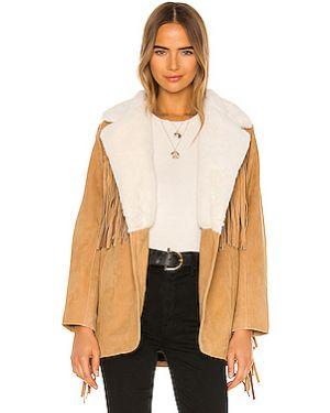 Кожаная куртка с бахромой из нубука Understated Leather
