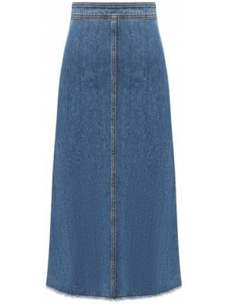 Юбка миди джинсовая синяя Philosophy Di Lorenzo Serafini