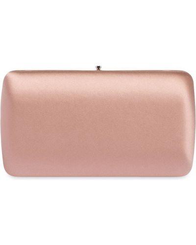 Klasyczna satynowa różowa kopertówka Prada