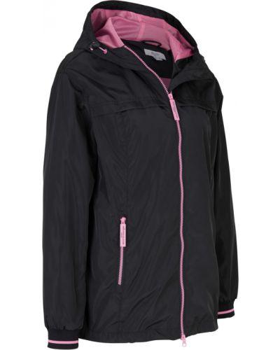 Спортивная куртка - черная Bonprix