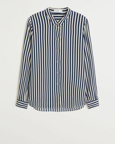 Блузка с длинным рукавом из вискозы классическая Mango