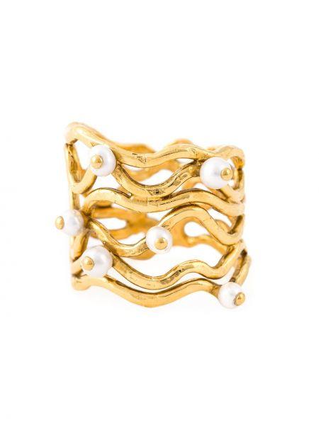 Pierścień metal biały Aurélie Bidermann