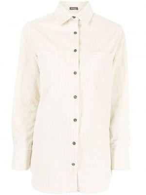 Biała koszula z długimi rękawami - biała Kiton
