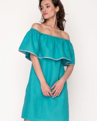 Повседневное платье весеннее бирюзовый Garmoniya