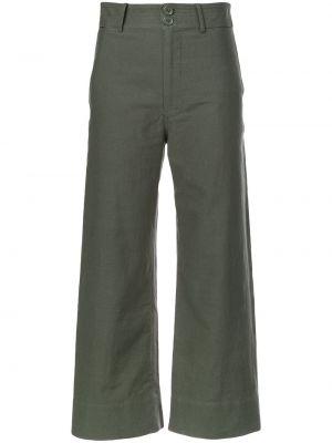 Зеленые хлопковые брюки Apiece Apart