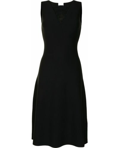 Прямое черное платье без рукавов Salvatore Ferragamo