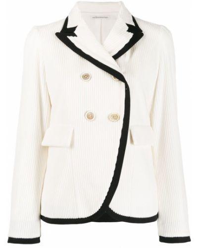 Прямой черный удлиненный пиджак с карманами Stefano Mortari