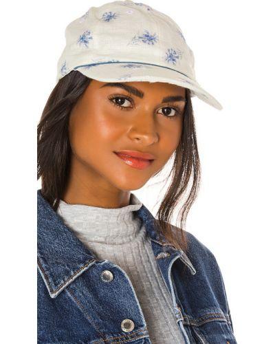 Niebieski kapelusz elegancki z jedwabiu Loveshackfancy
