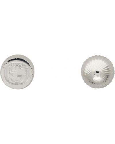 Серебряные серьги-гвоздики круглые Gucci