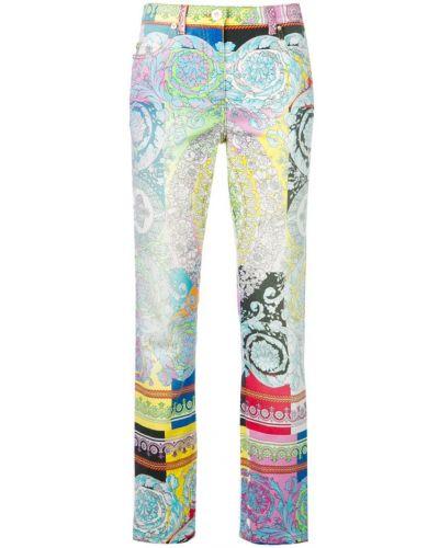 Джинсы с карманами Versace Jeans