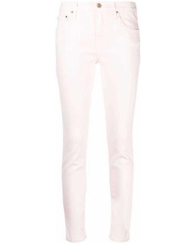 Хлопковые розовые джинсы с нашивками Jacob Cohen