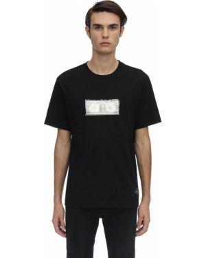 Czarny t-shirt bawełniany z haftem 3.paradis