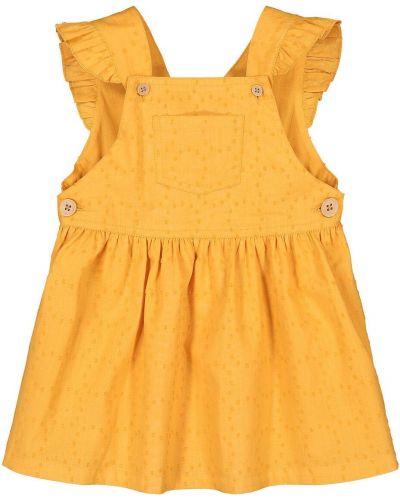 Прямое желтое платье миди с поясом Laredoute
