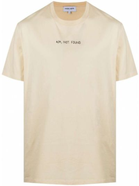T-shirt bawełniany z printem krótki rękaw Maison Labiche