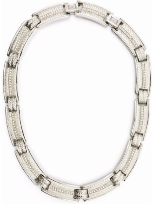 Naszyjnik srebrny Christian Dior