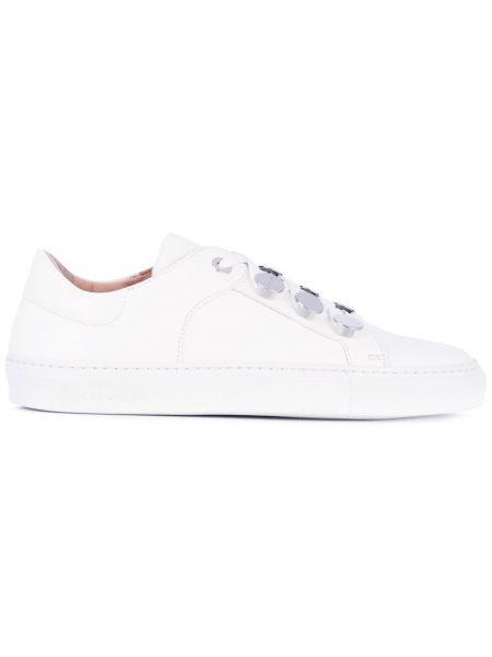 Białe sneakersy skorzane Carven