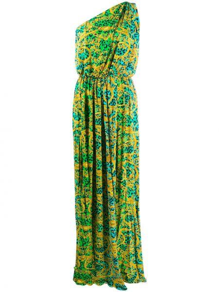 Джинсовое платье макси леопардовое Versace Jeans Couture