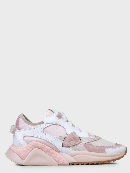 Кожаные кроссовки - розовые Philippe Model