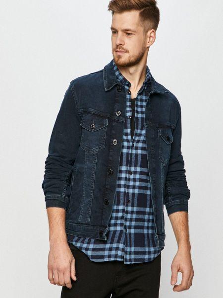 Хлопковая синяя джинсовая куртка с карманами Jack & Jones