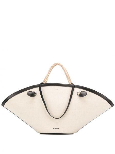 Skórzana torebka na ramię na łańcuszku Jil Sander