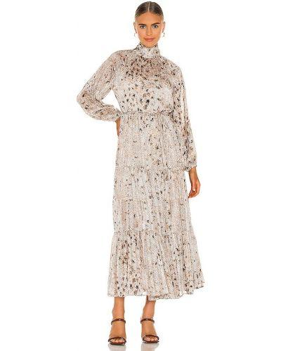 Бежевое деловое шифоновое платье Elliatt