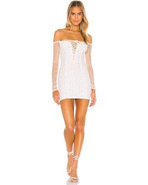Sukienka haftowana zasznurować Majorelle