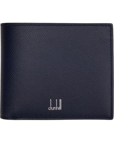 Niebieski portfel skórzany Dunhill