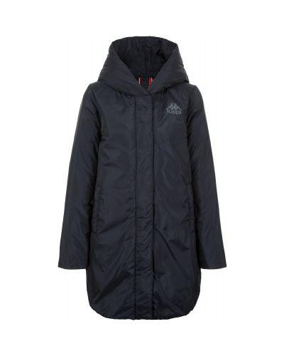 Утепленная куртка с капюшоном длинная Kappa