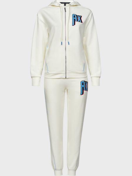 Костюмный белый костюм на молнии Armani Exchange