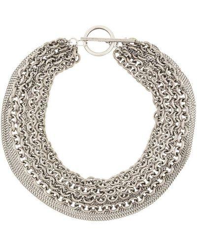 Ожерелье из серебра серебряный Ann Demeulemeester