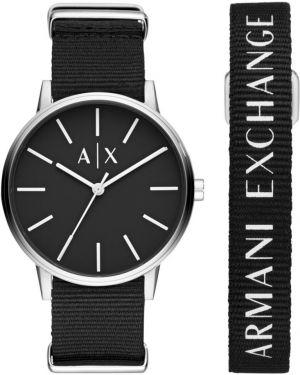 Черные часы водонепроницаемые круглые Armani Exchange