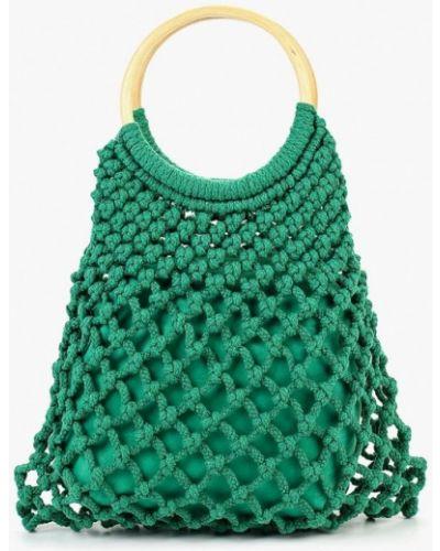 Зеленая пляжная сумка Topshop