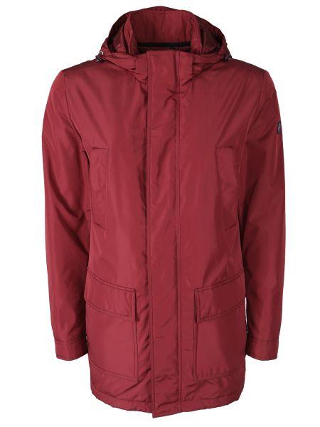 С рукавами красная куртка с капюшоном на молнии с карманами Paul & Shark