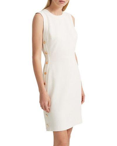 Белое платье-футляр без рукавов с подкладкой Club Monaco