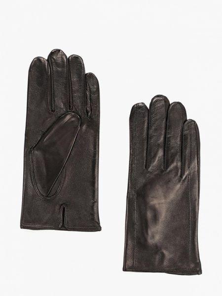 Кожаные перчатки черные Eleganzza
