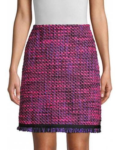Фиолетовая юбка макси твидовая с аметистом Escada