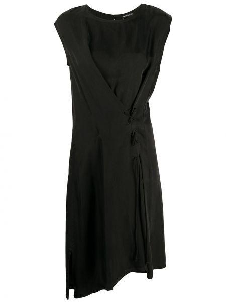 Платье на шнуровке черное Ann Demeulemeester