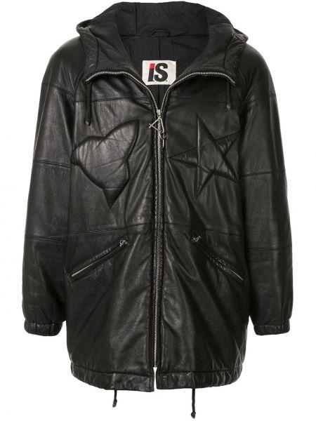 Черная нейлоновая куртка с капюшоном с рукавом реглан на молнии Issey Miyake Pre-owned