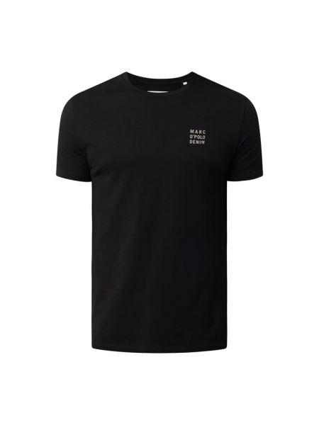 T-shirt z printem - czarna Marc O'polo Denim