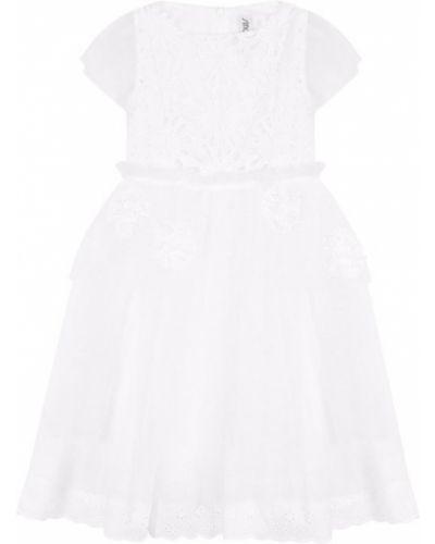 Платье миди с вышивкой с цветочным принтом Simonetta
