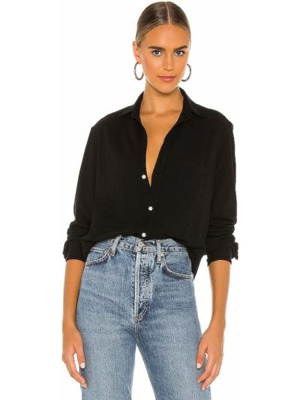 Рубашка с карманами - черная Frank & Eileen