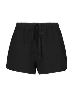 Хлопковые черные шорты Velvet