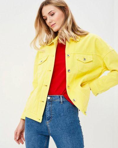 Желтая джинсовая куртка Vero Moda